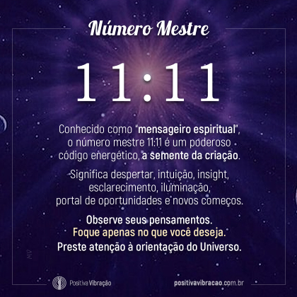Número Mestre 1111, por Spirit motivation