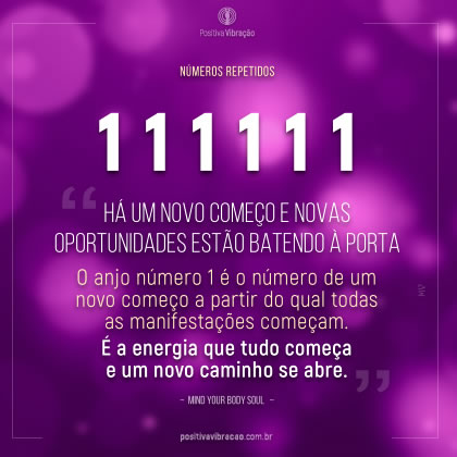Números de Anjo 111111, por Mind Your Body Soul